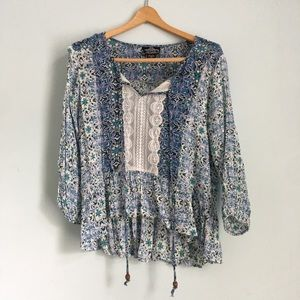 Printed Blouse from Angie -Size M~